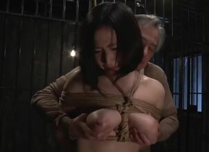 Asian bondage blowjob