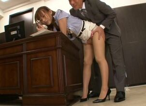 Asian office fucking