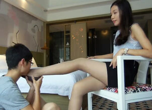 Asian feet worship
