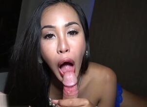 Asian ladyboy fucked