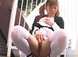 Asian solo masturbation
